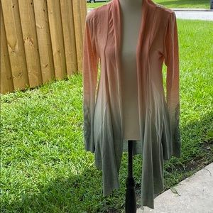 Miss Me Ombré Waterfall front cardigan small